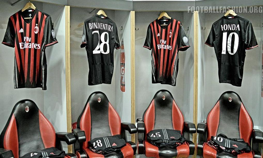 67e8ea1b293e3 AC Milan 2016/17 adidas Home Kit - FOOTBALL FASHION.ORG