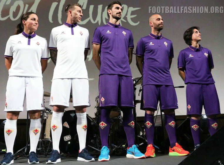 9b5488ad9 ACF Fiorentina 2016 17 le coq sportif Home and Away Kits – FOOTBALL ...