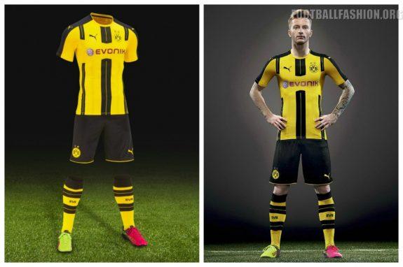 Borussia Dortmund 2016 2017 PUMA Home Football Kit, Soccer Jersey, Shirt, Trikot, Heimtrikot