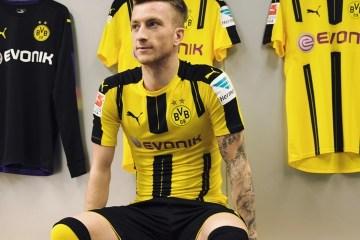 cbd43393e Borussia Dortmund 2016 2017 PUMA Home Football Kit, Soccer Jersey, Shirt,  Trikot, ...