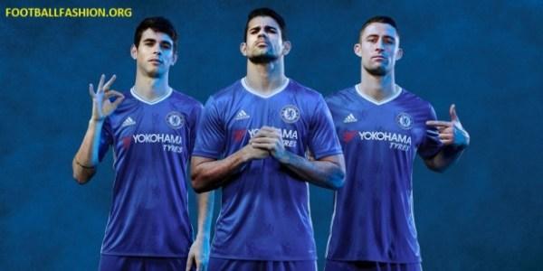 Chelsea Football Club 2016 2017 adidas Home Football Kit, Soccer Jersey, Shirt, Camiseta, Camisa, Maillot, Trikot