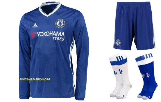 Chelsea Football Club 2016 2017 adidas Home Football Kit, Soccer Jersey, Shirt, Camiseta, Camisa, Maillot, Trikot