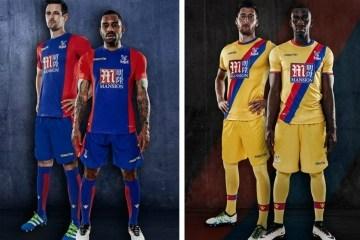 Crystal Palace 2016 2017 Macron Home and Away Football Kit, Soccer Jersey, Shirt