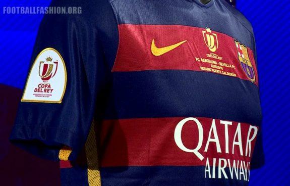 FC Barcelona 2016 Copa del Rey Final Nike Football Kit, Soccer Jersey, Shirt. Camiseta de Futbol