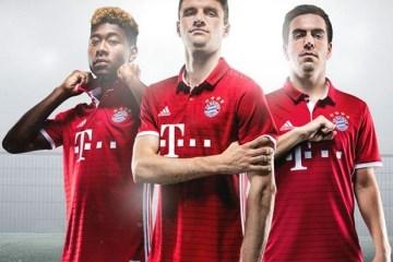 FC Bayern München 2016 2017 adidas Home Football Kit, Soccer Jersey, Shirt, Bayern Munich Trikot, Heimtrikot 2016/17