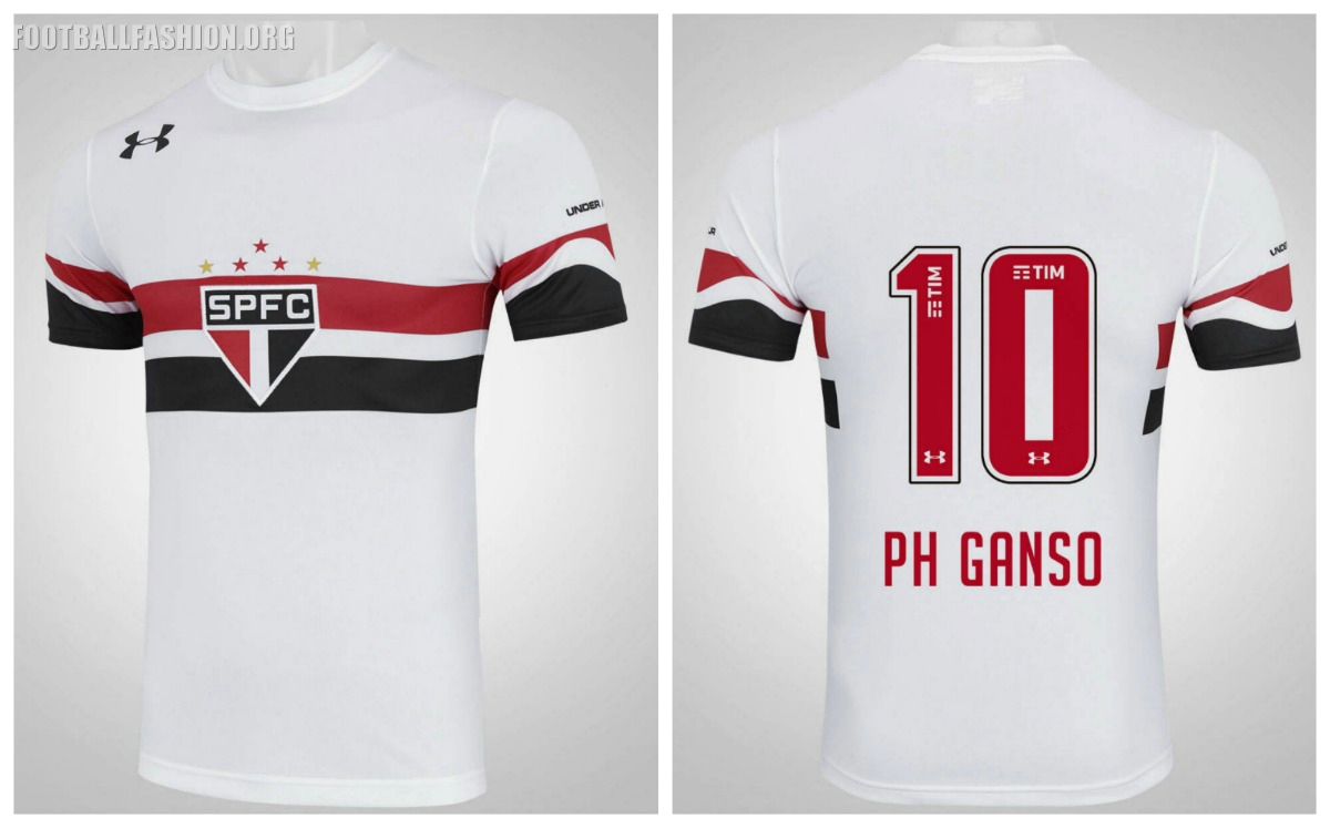 c43aa2488d7 São Paulo FC 2016 17 Under Armour Home Kit - FOOTBALL FASHION.ORG