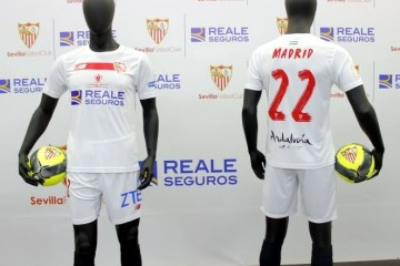 Sevilla FC 2016 Copa del Rey Final New Balance Football KIt, Soccer Jersey, Shirt, Camiseta del Futbol