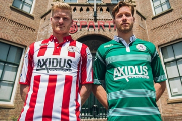 Sparta Rotterdam 2016 2017 Robey Home and Away Football Kit, Soccer Jersey, Shirt, nieuwe thuis- en uittenue