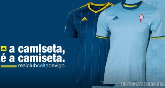 Celta de Vigo 2016 2017 adidas Home and Away Football Kit, Soccer Jersey, Shirt, Camiseta de Futbol