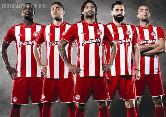 Olympiacos FC 2016 2017 adidas Home Football Kit, Soccer Jersey, Shirt