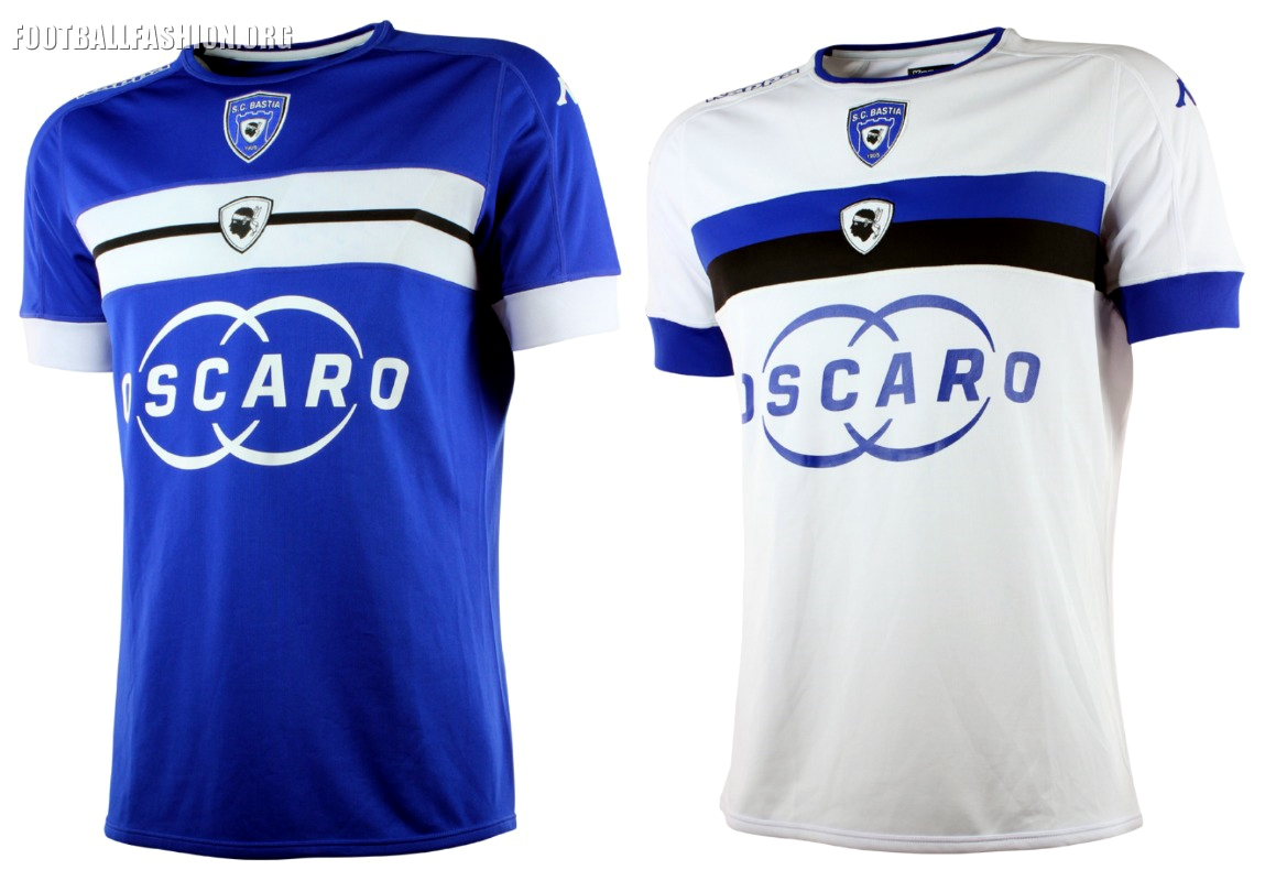 SC Bastia 2016 17 Kappa Home and Away Jerseys – FOOTBALL FASHION.ORG 30fc828a7c1ac
