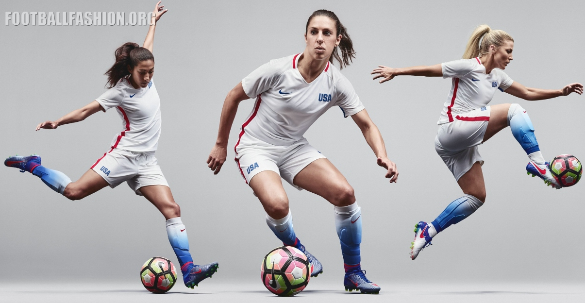 Ocurrir Oceano Egoísmo  USA 2016 Rio Olympics Nike Home Kit - FOOTBALL FASHION