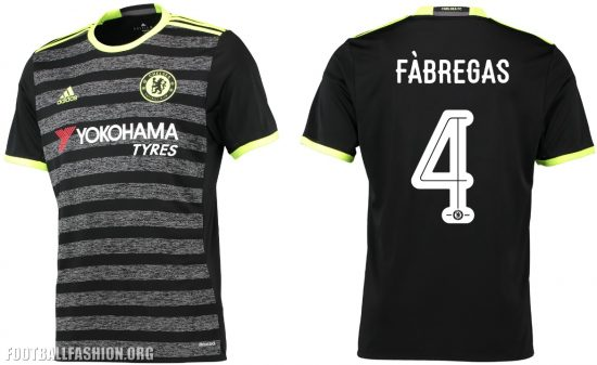 Chelsea Football Club 2016 2017 adidas Away Kit, Soccer Jersey, Shirt, Camiseta, Camisa, Trikot, Maillot