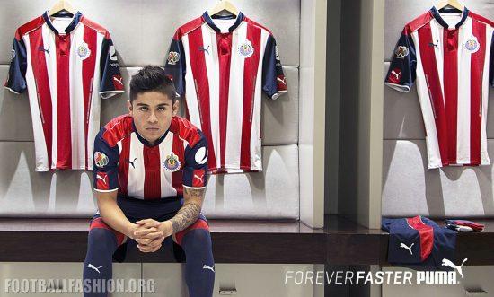 Chivas de Guadalajara 2016 2017 PUMA Home and Away Soccer Jersey, Shirt, Football Kit, Camiseta de Futbol, Playera, Equipacion
