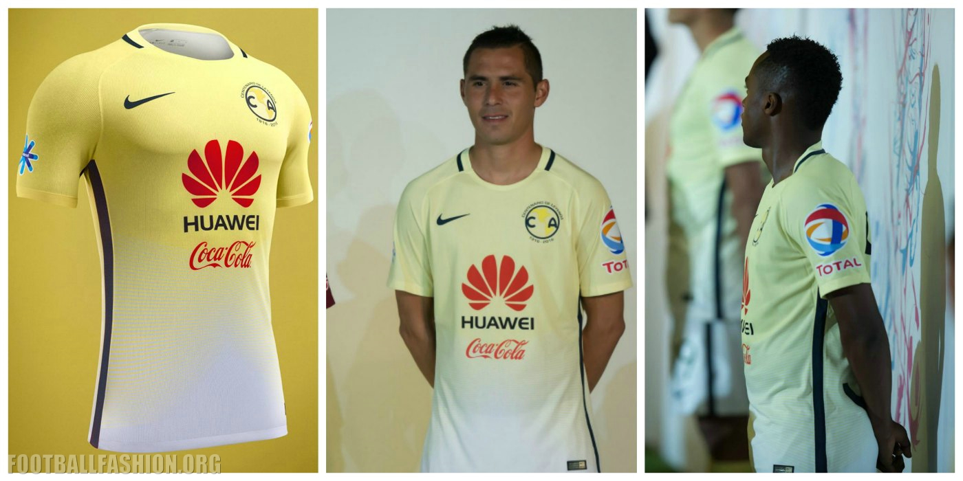 the best attitude db325 0ee60 Club América 2016/17 Nike Home Jersey - FOOTBALL FASHION.ORG
