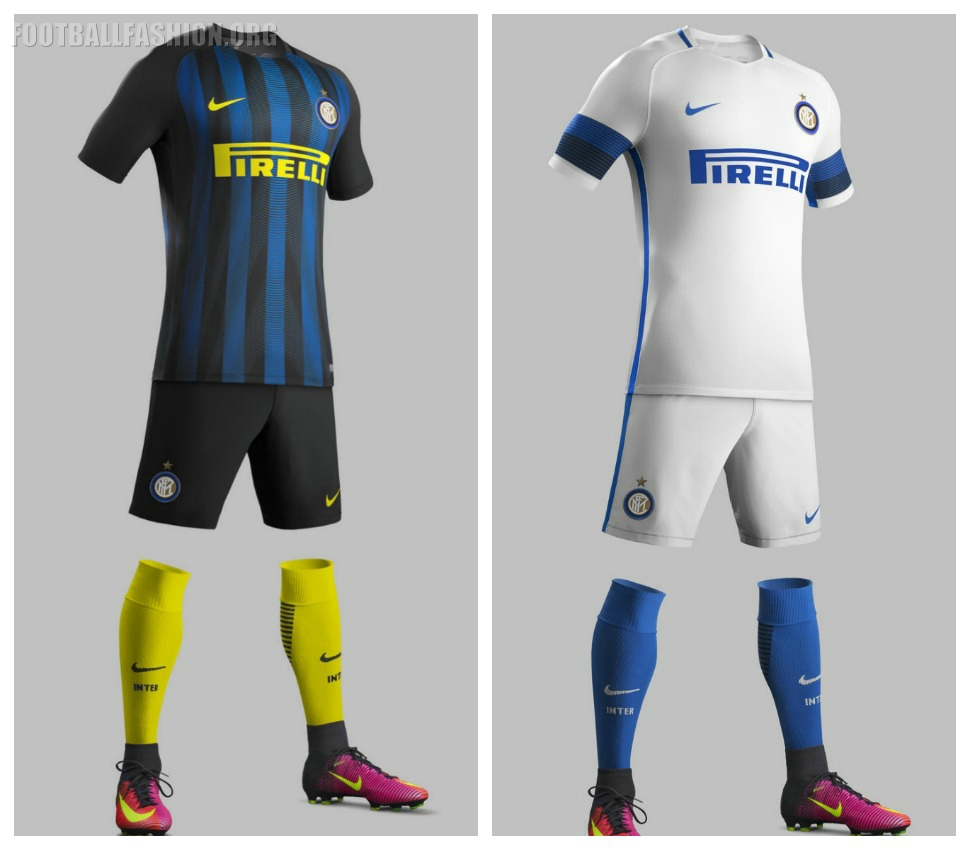 inter milan 201617 nike home and away kits football