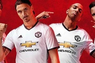 Manchester United FC White 2016 2017 adidas Third Football Kit, Soccer Jersey, Shirt, Maillot, Camiseta, Gara, Equipacion, Trikot, Tenue