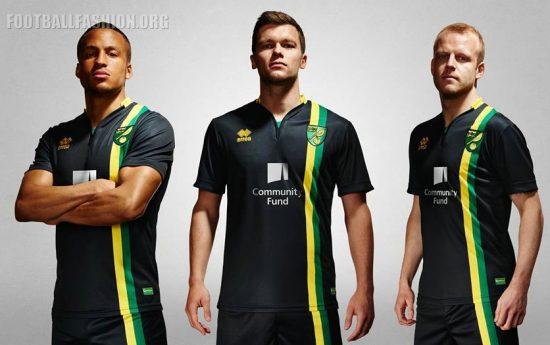Norwich City FC 2016 2017 Errea Away and Third Football Kit, Soccer Jersey, Shirt