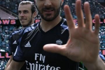 Real Madrid 2016 2017 adidas Black Third Football Kit, Soccer Jersey, Shirt, Camiseta de Futbol, Nueva Equipacion, Camisa, Trikot, Maillot