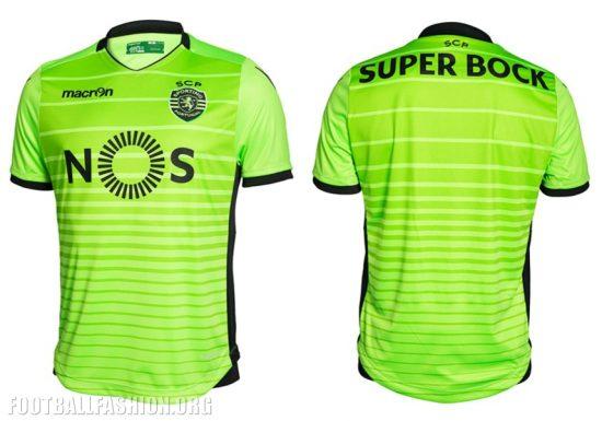 Sporting Clube de Portugal 2016 2017 Macron Football Kit, Soccer Jersey, Shirt, Camiseta, Camisola, Camisa