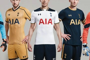Tottenham Hotspur 2016 2017 Under Amour Home, Away and Third Football Kit, Soccer Jersey, Shirt, Maillot, Camisa, Camiseta, Trikot