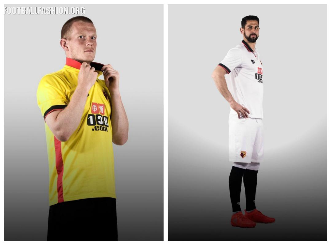 Watford FC 2016 17 DryWorld Home and Away Kits - Football Fashion 0c6595c6e