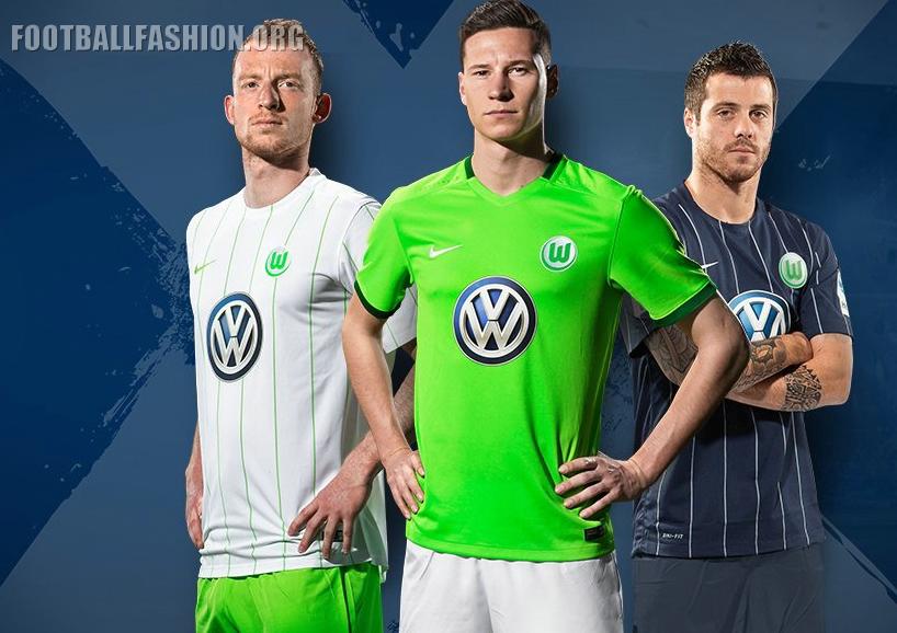 watch 6ec58 38dc2 VfL Wolfsburg 2016/17 Nike Home, Away and Third Kits ...