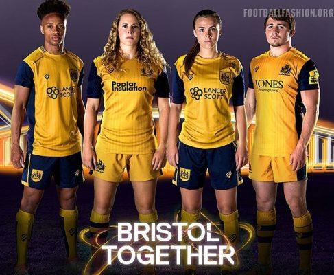 Bristol City FC 2016 2017 Away Football Kit, Soccer Jersey, Shirt