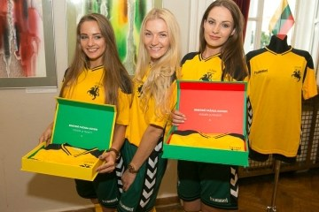 Lithuania 2016 2017 Hummel Home Football Kit, Soccer Jersey, Shirt,