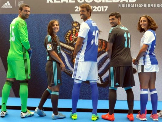Real Sociedad 2016 2017 adidas Home and Away Football Kit, Soccer Jersey, Shirt, Camiseta de Futbol, Equipacion