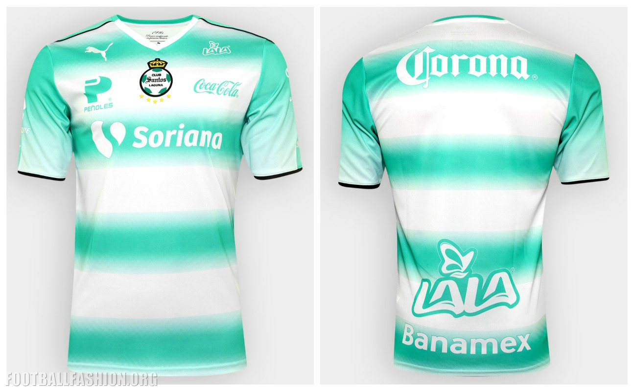 6b6ebad2f9d Santos Laguna 2016 2017 PUMA Home and Away Soccer Jersey, Football Kit,  Shirt,