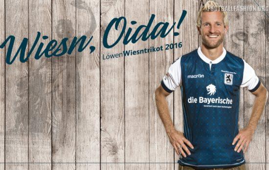 TSV 1860 München 2016 Oktoberfest Macron Football Kit, Soccer Jersey, Shirt,  Wiesntrikot