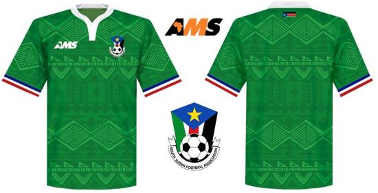 AMS 2016 2017 African Football Kit, Soccer Jersey, Shirt, Maillot - Eritrea, South Sudan, Western Sahara and Darfur