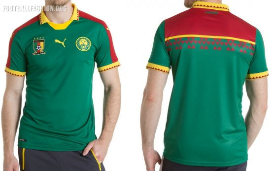 Cameroon 2017 Africa Cup of Nations PUMA Home Football Kit, Soccer Jersey, Shirt, Maillot AFCON 2017, CAN 2017, Cameroun
