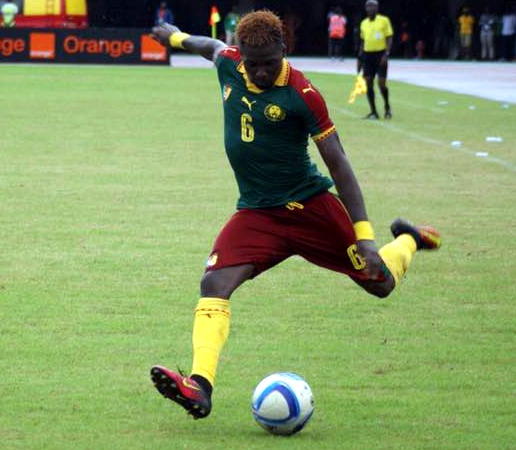 25ad6a34d68 The PUMA Cat logo is embroidered on the center chest and sleeves. Cameroon  2017 Africa Cup of Nations PUMA Home Football Kit ...