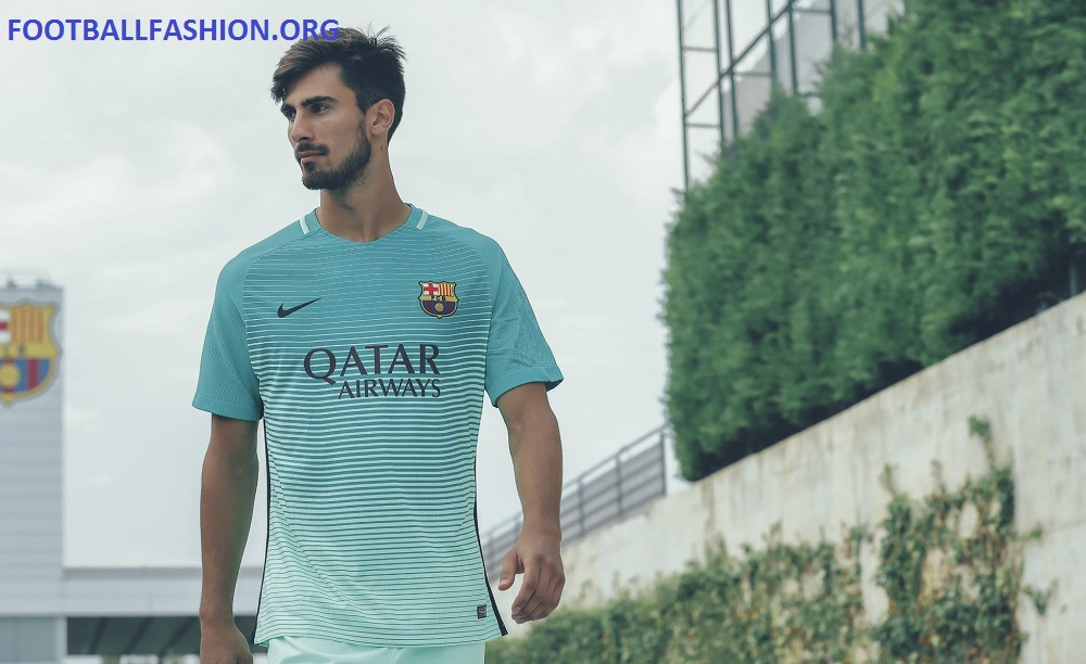 c169027ff47 FC Barcelona 2016 17 Nike Third Kit - FOOTBALL FASHION.ORG