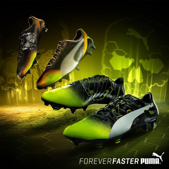 387bb96ca PUMA evoPOWER 1.3 and evoSPEED SL II Graphic Editions Soccer Boots,  Football Shoes