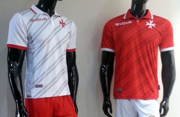 Malta 2016 2017 Givova Home and Away Football Kit, Soccer Jersey, Shirt