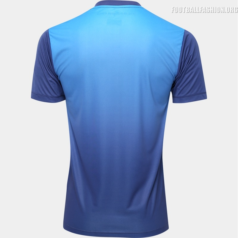 A gradient effect leads to a darker blue on the bottom half. Santos FC 2016 2017  Kappa Third Football Kit ... de5763712c76d