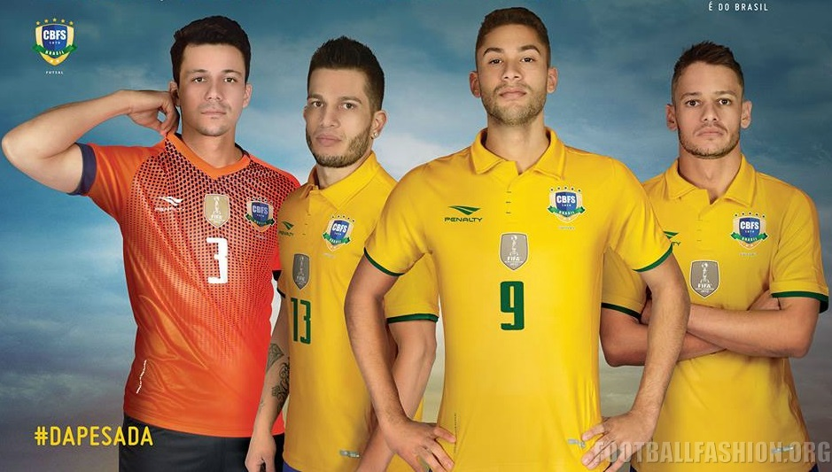 be34d5a153 Brazil Futsal 2016 17 Penalty Kits – FOOTBALL FASHION.ORG
