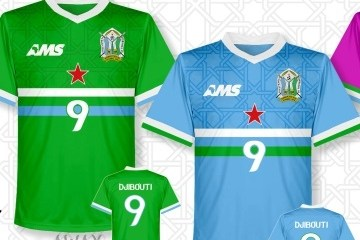 Djibouti 2016 2017 AMS Home and Away Football Kit, Soccer Jersey, Shirt, Maillot