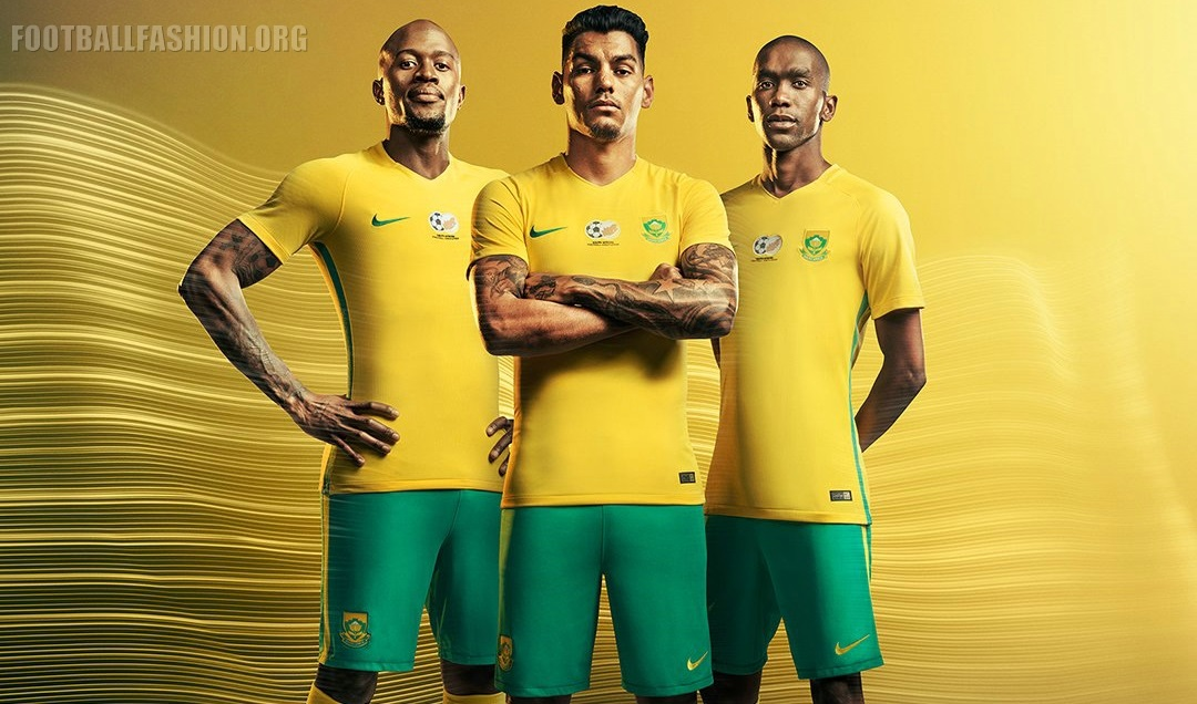25a45f7c9c2 South Africa 2016 17 Nike Home and and Away Kits - FOOTBALL FASHION.ORG