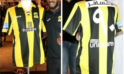 Ittihad FC 2017 90th Anniversary Joma Home Football Kit, Soccer Jersey, Shirt