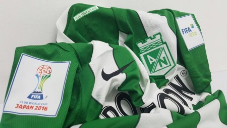 Atlético Nacional 2016 FIFA Club World Cup Nike Home Soccer Jersey, Shirt, Football Kit, Camiseta de Futbol Mundial de Clubes Japon