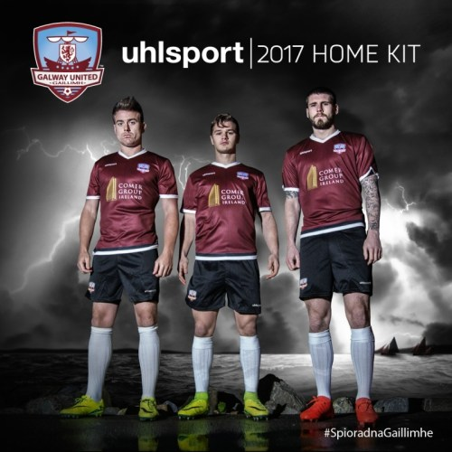 Galway United FC 2017 Uhlsport Home Football Kit, Soccer Jersey, Shirt