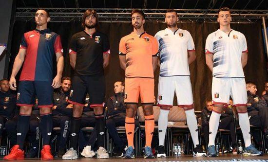 Genoa CFC 2016 2017 Lotto Home, Away and Third Football Kit, Soccer Jersey, Shirt, Maglia, Gara