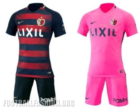 Kashima Antlers 2017 Nike Home and Away Football Kit, Soccer Jersey, Shirt