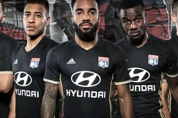 Olympique Lyon 2016 2017 adidas Black Third Football Kit, Shirt, Jersey, Maillot