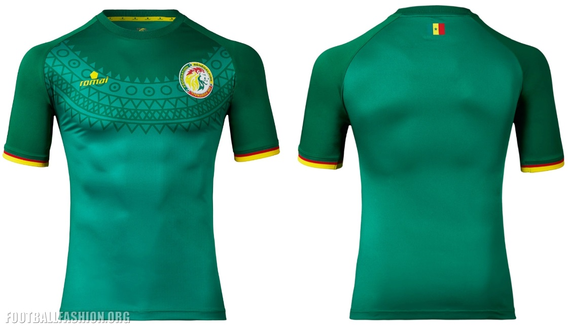 huge discount e9736 0ed9f Senegal 2017 Africa Cup of Nations Home and Away Kits ...