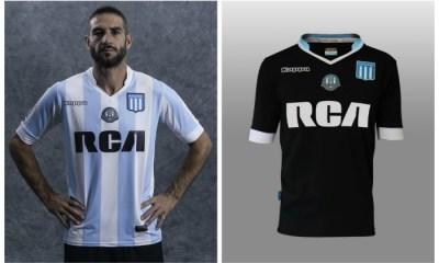 Racing Club 2017 Kappa Home and Away Football Kit, Soccer Jersey, Shirt, Camiseta de Futbol, Equipacion